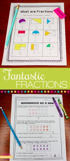 Amazing Fractions activities!  Includes ways to identify fractions in a set and a FREE activity!