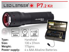 LED Lenser - 2 Kit 2 torch with pressure sensitive switch and gun mount Ideal for hunting shooting and lamping Power low power and boost Led Lenser, Alkaline Battery, Torches, Flashlight, Gun, Lamps, Hunting, Lights, Highlight