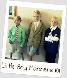 Manners and Etiquette for the Little Boys (or just kids in general!)