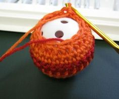 Crochet around a golf ball {tutorial}~ great cat toy