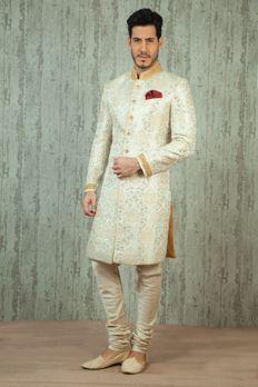 Love the Brocade Sherwani from BenzerWorld!