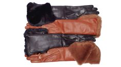 Autumn Winter Collection 2012-13. Fur Leather Gloves