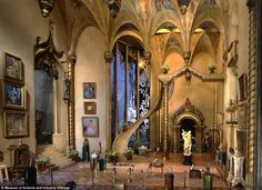 Inside a $7,000,000 dollhouse: The 1928 Fairy Castle of famed silent movie actress Colleen Moore @ the Museum of Science and Industry, Chicago. I loved walking through this amazing exhibit as a child. The rooms are magnificent, beyond words.