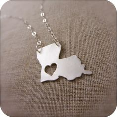 Louisiana state necklace.  LOVE