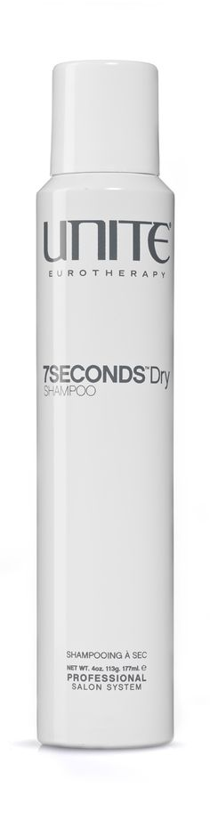 7SECONDS™ DRY SHAMPOO  Can you believe that within 7SECONDS your hair can be fresh and clean? Then you are straight out the door and ready for anything that comes at you!• Extremely fine clay removes excess oil •Translucent (For all Hair Colors) •Use with extensions and professional straightening systems• Weightless silicones lightly condition hair• Maintains and prolongs existing hair color• Increases volume at roots• Shake vigorously