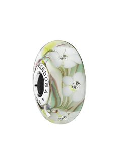 Pandora Charm - Sterling Silver, Cubic Zirconia & Murano Glass Wildflowers, Moments Collection