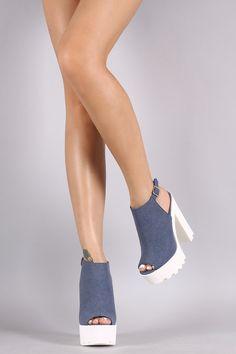 Bamboo Nubuck Lug Sole Platform Mule Heel - Chic Fre4k Boutique - 3