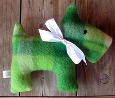 Mandy Upcycled Plush Scotty Dog by leahkl on Etsy, $19.00