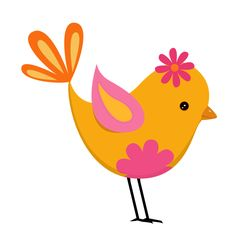 Pink and Yellow Birds - Birds10.png - Minus