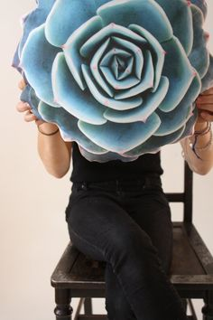 Spring Succulent pillow made to order by Plantillo on Etsy