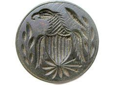 1800's Patriotic Folk Art Eagle Wooden Butter Pat    Sold   Ebay     200.00.     ..~♥~