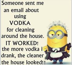 Minions - I clean with Vodka