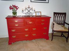 SOLD Custom Order   Vintage Kling Furniture Dresser Or Buffet In Solid  Maple Wood   For