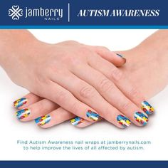 April is Autism Awareness month - Grab your Autism Awareness wraps to show your support! For each sheet purchased, Jamberry will donate $2.00 to the Autism Society of America. Are you raising money for this cause? If you'd like to collaborate, I will contribute an additional $3 for every wrap sold to your fundraiser/organization. Contact me for more details. Thanks! #autism #autismspeaks #autismawareness http://jillr.jamberrynails.net/