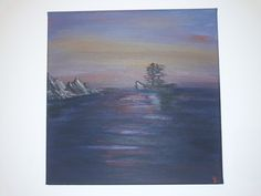 Acrylic on canvas painting - marine landscape - 24 cm x 24 cm Paintings, Landscape, Canvas, Instagram, Art, Tela, Art Background, Paint, Painting Art