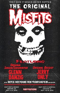 So badass! #Danzig fronting #misfits  You boys get along and do a full U.S. Tour now!
