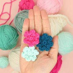 Learn how to crochet these small, simple flowers with this free pattern.