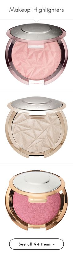 """""""Makeup: Highlighters"""" by katiasitems on Polyvore featuring beauty products, makeup, face makeup, highlight makeup, huda beauty, palette makeup, huda beauty makeup, beauty, faces and face powder"""
