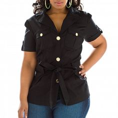 Belted Jacket Plus Size Clothing From Baby Phat