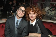 Calvin Klein Collection and Peggy Siegal hosted an intimate invitation only event in honor of Darren Criss at The Darby in New York. The evening was co-hosted by Alan Cumming, Parker Posey, Lily Rabe, Andrew Rannells and Jordon Roth, celebrating his Broadway debut of H2$. Pictured here with Susan Sarandon