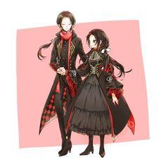 """HOZ(ほづ) 暫く低浮上さんのツイート: """"@tkhime_TL 近侍ドレス…のつもりが近侍ゴスのようになってしまった近侍ドレス… Manga Anime, Anime Couples Manga, Cute Anime Couples, Anime Art, Anime Outfits, Mode Outfits, Anime Siblings, Fantasy Dress, Touken Ranbu"""