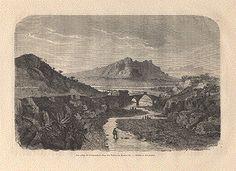 La Vallée du Llobregat; Le Pont du Diable; le Montserrat - Catalogne - Wood engraving by Rouargues ca 1890.