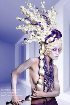 Couture Tribes For the #NAHA Photographer: Chris Nagy HAir: Fabian Cisneros Style: Nuria Carrasco Makeup: Model: Diana Carolina Borda