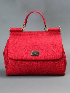 Dolce & Gabbana. Red. Handbag. Fashion.
