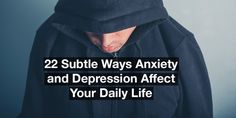 22 Subtle Ways Anxiety and Depression Affect Your Daily Life Mental Illness Facts, Types Of Mental Illness, Mental Illness Awareness, Chronic Tension Headaches, Chronic Migraines, Fibromyalgia, Depression Recovery, Health World