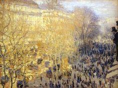 Boulevard des Capucines Paris 1873 Claude Monet