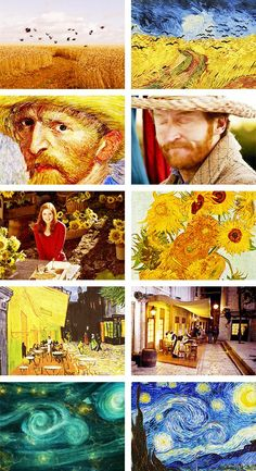 (gif set) Vincent Van Gogh. Thanks to Doctor Who, i can't look at a Van Gogh painting without getting really sad