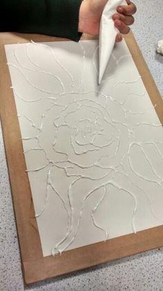 Glue relief art work