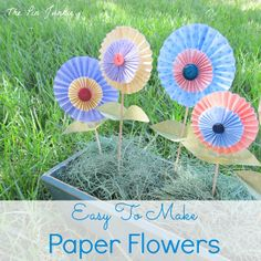 Easy to Make Folded Paper Flowers - step by step tutorial