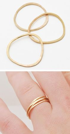 Pebble stacking rings