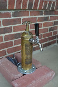 Draft Beer Tap Tower - Brass Fire Extinguisher Industrial Beer Tower