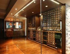 Modern Wine Cellar by Papro Consulting