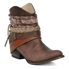 Steve Madden Mezcal Bootie in Brown ($450) ❤ liked on Polyvore