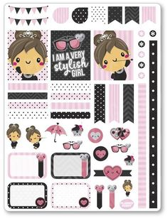 Items similar to Audrey Decorating Kit / Weekly Spread Planner Stickers for Erin Condren Planner, Filofax, Plum Paper on Etsy Cute Planner, Planner Pages, Happy Planner, Bujo, Decoration Stickers, Freebies, Printable Planner Stickers, Erin Condren, Hello Kitty