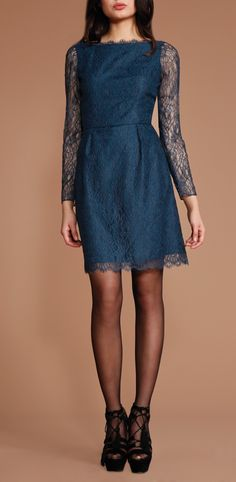 My latest purchase: This deep teal lace Shoshanna dress. Where I'll be wearing it: In my bff's wedding this October. Is this not the most gorgeous bridesmaid's dress?!