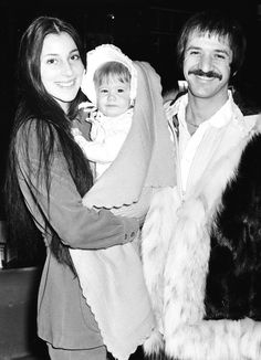 Sonny & Cher with their baby girl