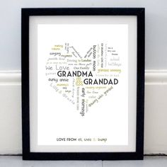 Personalised Grandparent Print from notonthehighstreet.com