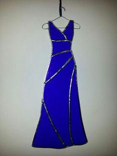 Ladies' dress in blue designed by Glass Gifts Garioch