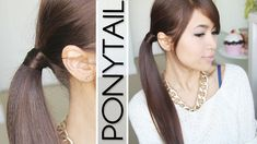 Must Check : Hair Wrapped Ponytail (No Bobby Pins) Hairstyle Hair Tutorial