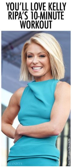 Talk show host Kelly Ripa is sharing her 10-minute workout to keep her body lean and healthy