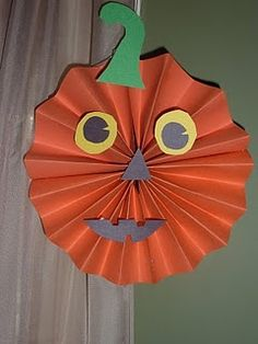 easy pumpkin this will perfect for my 2 year old decoration craftshanging decorationshalloween - Halloween Crafts For 8 Year Olds