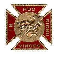 """Knights Templar:  """"In hoc signo vinces"""" (""""In this sign, you will conquer"""") is a Latin rendering of the Greek phrase """"ἐν τούτῳ νίκα"""" en touto nika. The historian Eusebius states that Constantine the Great was marching with his army when he looked up to the Sun and saw a cross of light above it, and with it the Greek words """"ἐν τούτῳ νίκα"""" (""""In this, conquer""""), often rendered in Latin as In hoc signo vinces (""""in this sign, you will conquer""""). It is a motto used by various Masonic #Knights…"""