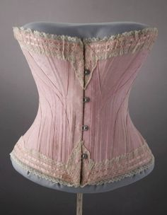 Late Victorian Marshall Field  Co. jacquard trousseau corset. Courtesy of the Chicago History Museum.