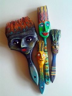 altered paint brushes