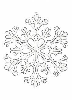 Coloriage de flocon de neige - Dessins à colorier - IMAGIXS