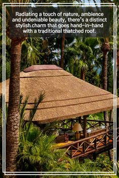 Radiating a touch of nature, ambience and undeniable beauty, there's a distinct stylish charm that goes hand-in-hand with a traditional thatched roof. Outdoor Gazebos, Outdoor Structures, As Built Drawings, Gazebo Ideas, Timber Structure, Roof Covering, Thatched Roof, Pool Bar, Construction Process